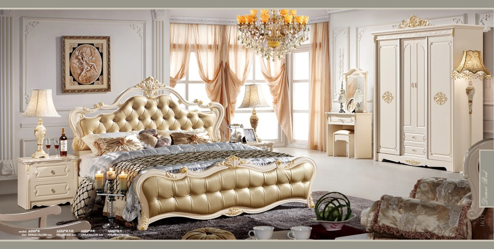 Luxury bedroom furniture luxury bedrooms and bedroom - White and gold bedroom furniture set ...