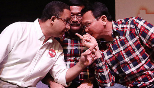 Image result for ahok dengan anies