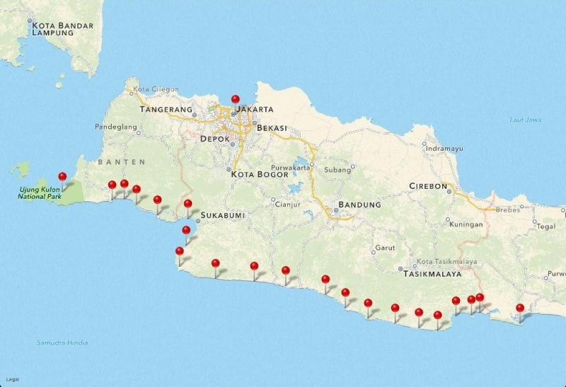 Pantai Selatan Sukabumi Miliki Arus Seretan yang Berbahaya