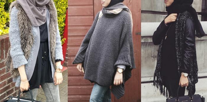 Gaya Fashion Blogger Dengan Padanan Hijab Dan Outer Tebal Yang Stylish