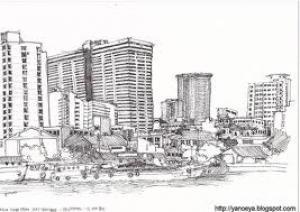 Sketsa Kota Oleh Beni Guntarman Kompasianacom