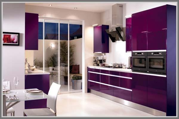 Ingin dapur tampil mewah dan elegan gunakan ungu oleh for Kitchen set mewah