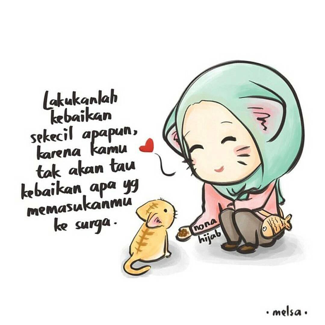 Gambar Kartun Muslimah Ngantuk  Kantor Meme