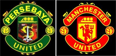 Antara Persebaya United Manchester Oleh Hery Syofyan Gambar Logo Bonek