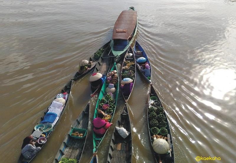 Wisata Banua Menemukan Pasar Terapung Lok Baintan Dari Jalur Darat Halaman 1 Kompasiana Com