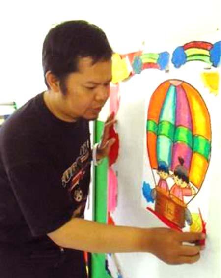 Agus Hamdani Pencetak Juara Menggambar Dan Mewarnai Halaman All Kompasiana Com