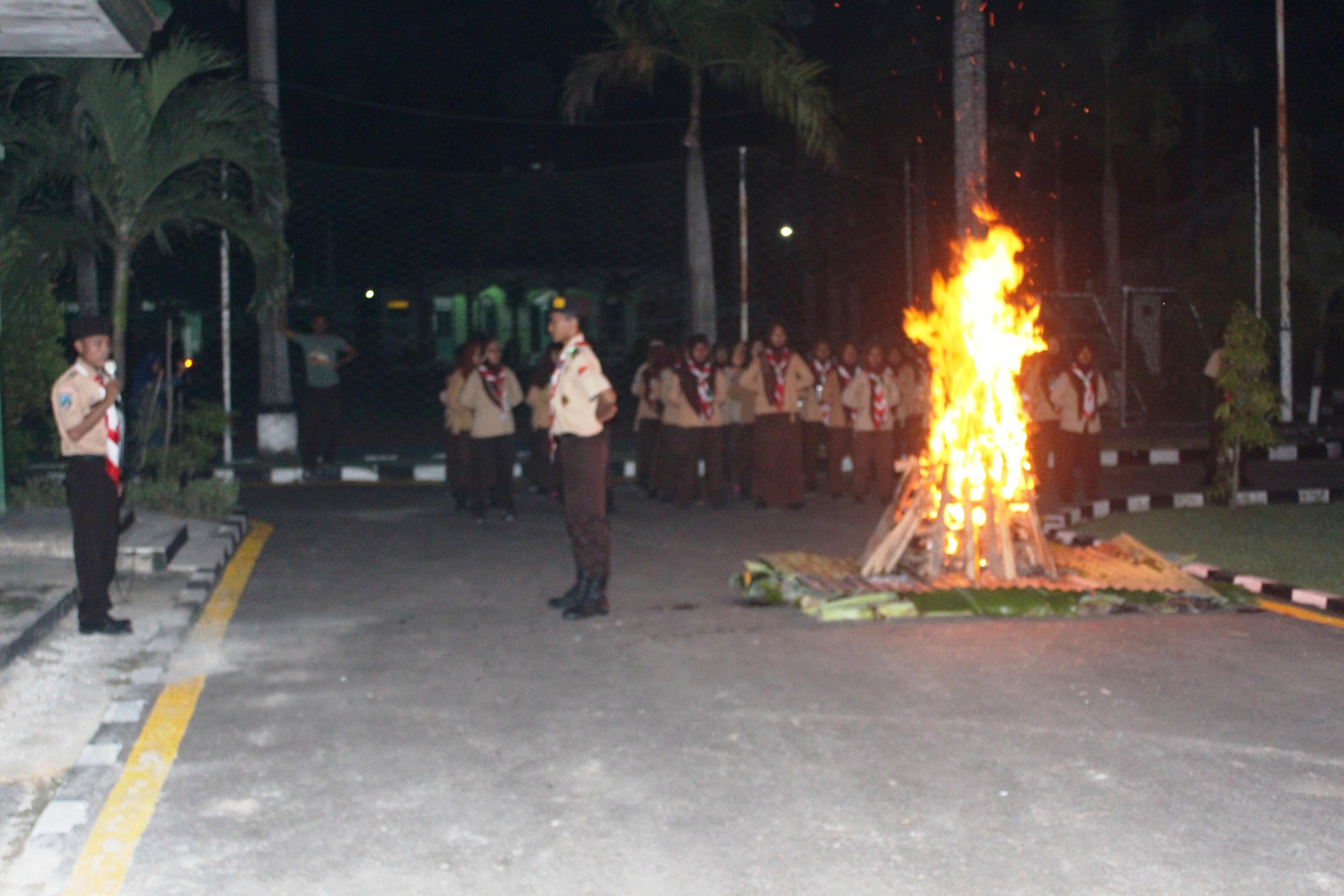 Malam Api Unggun & Pensi Perkemahan Lokakarya Pramuka Saka Wira Kartika Kodim Bojonegoro oleh Mas Pen Kompasiana