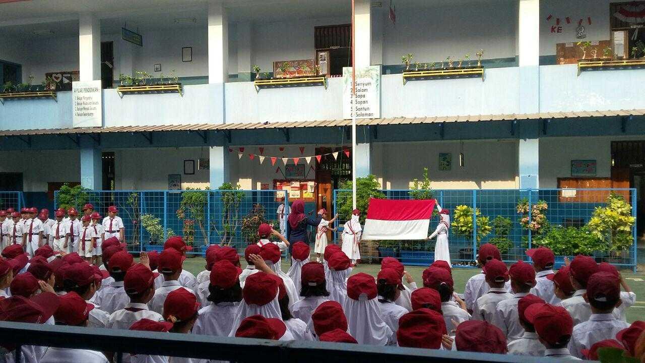 Upacara Bendera Kegiatan Menumbuhkan Nilai Nilai Karakter Bangsa Di Sekolah Kompasiana Com