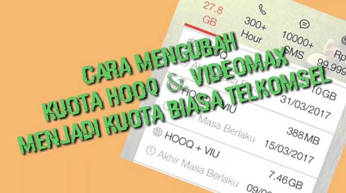 Cara Mudah Merubah Paket Kuota Videomax Telkomsel Menjadi Paket