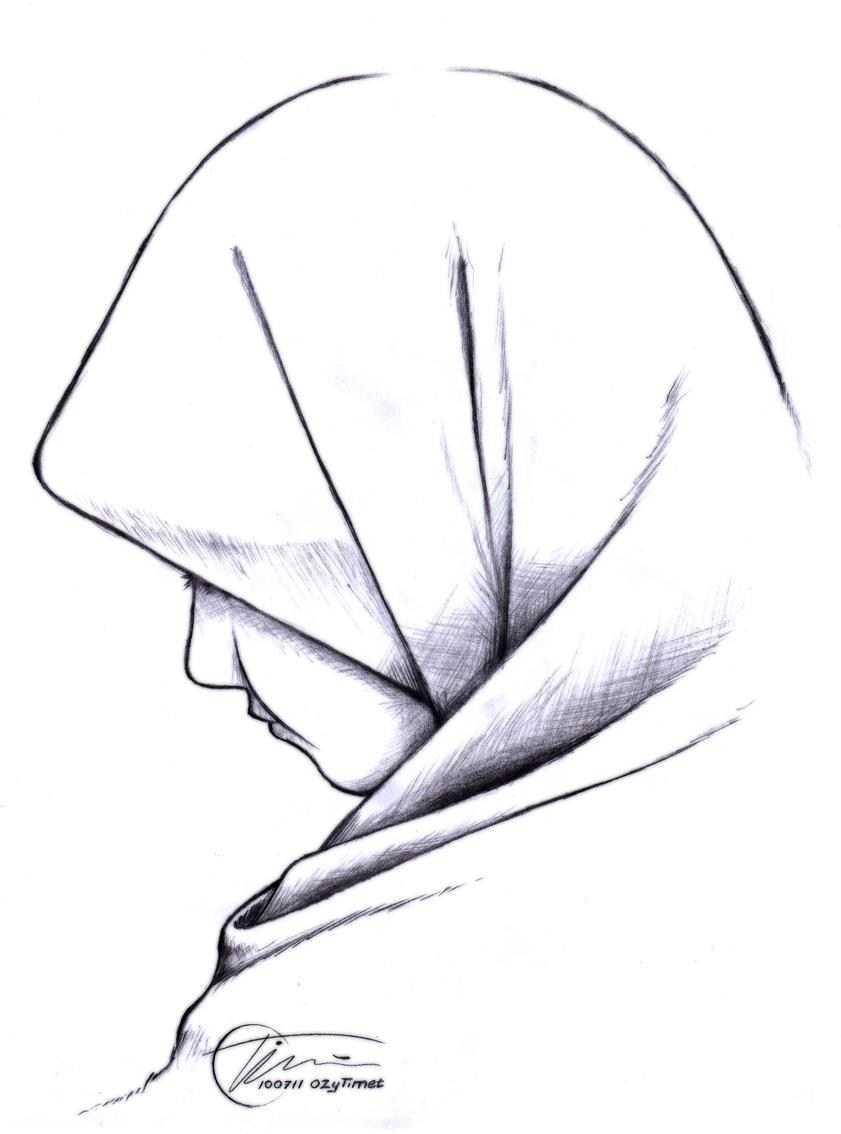 35 Ide Sketsa Wajah Wanita Berhijab Dari Samping Will You Love Me