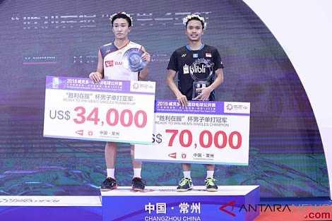 Juarai China Open 2018, Anthony Ginting Lupakan Mimpi Buruk di Asian Games 2018