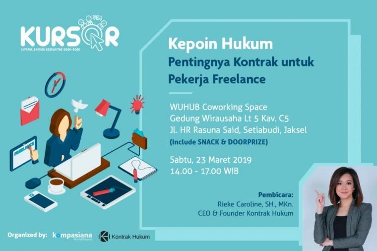 Ngobrolin Seluk Beluk Kontrak Kerja untuk Para Freelance di Kursor Edisi Perdana