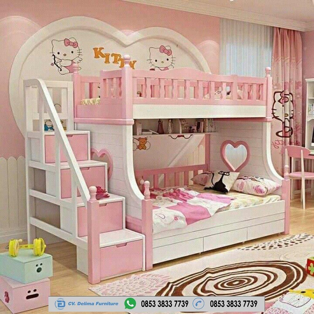 Tempat Tidur Tingkat Minimalis Ranjang Susun Anak 5 Bed Kayu Jati
