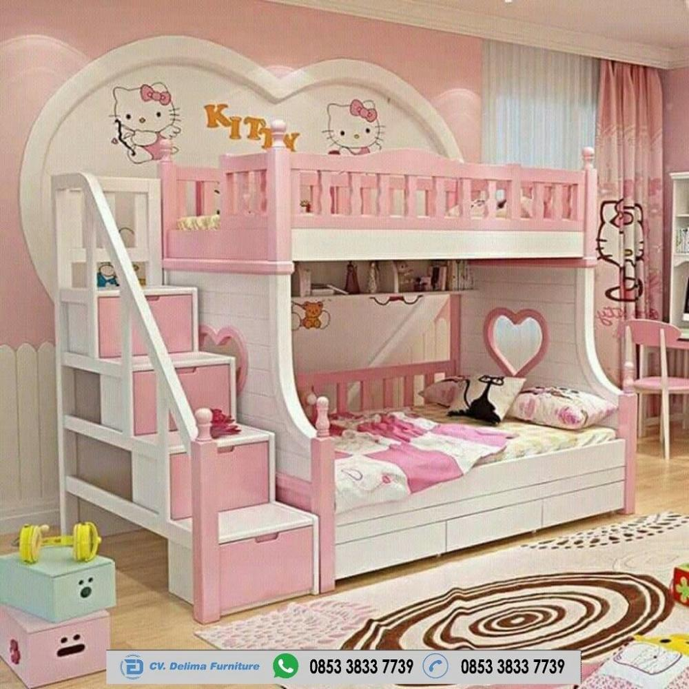 Tempat Tidur Tingkat Minimalis Ranjang Susun Anak 3 Bed Kayu Jati Halaman 1 Kompasiana Com Tempat tidur anak 2 tingkat