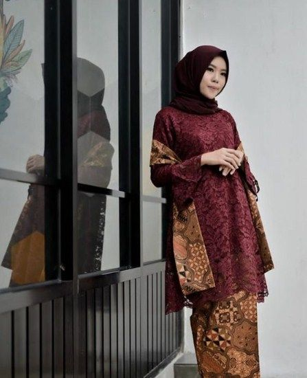 30 Model Gamis Brokat Kombinasi Batik Halaman All Kompasiana Com