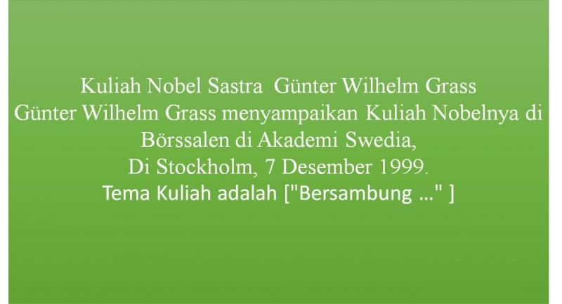 Kuliah Nobel Sastra 23 Guter Wilhelm Grass 1999 Halaman