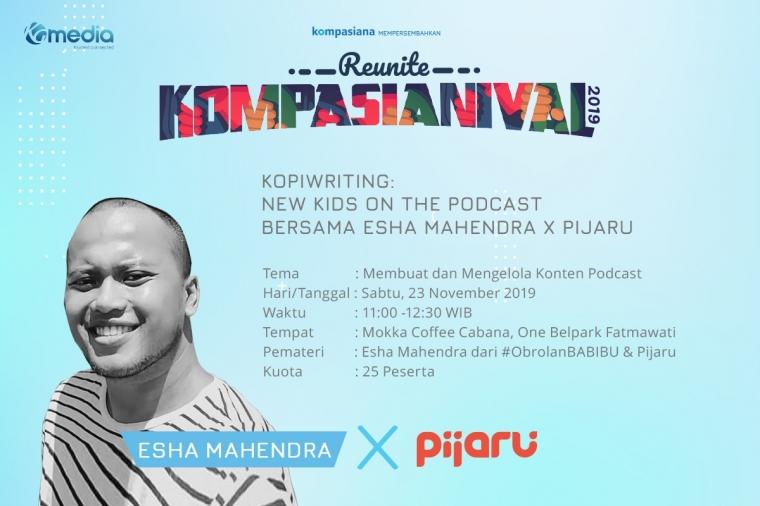 Kopiwriting: New Kids on The Podcast bersama Esha Mahendra x Pijaru