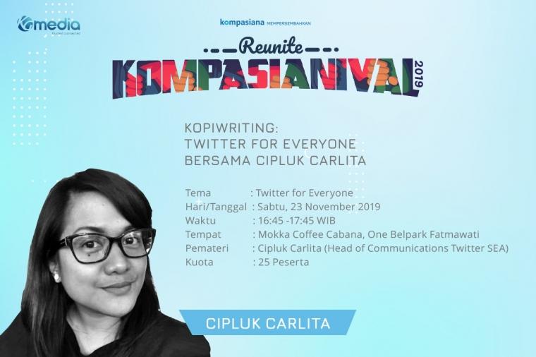 Kopiwriting: Twitter for Everyone bersama Cipluk Carlita