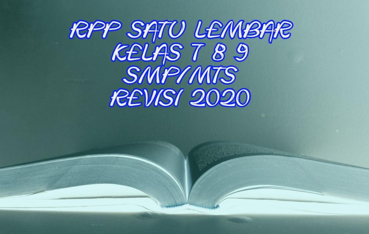 Rpp 1 Lembar Smp Mts Kelas 7 8 9 Revisi 2020 Halaman All Kompasiana Com