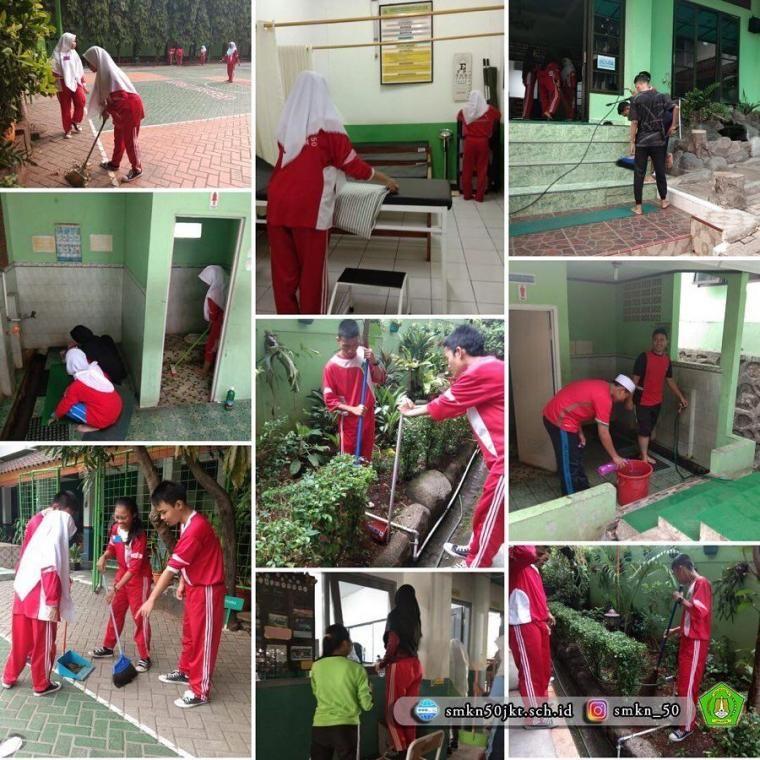 Kegiatan Gotong Royong Menjaga Kebersihan Di Smkn 50 Jakarta Kompasiana Com