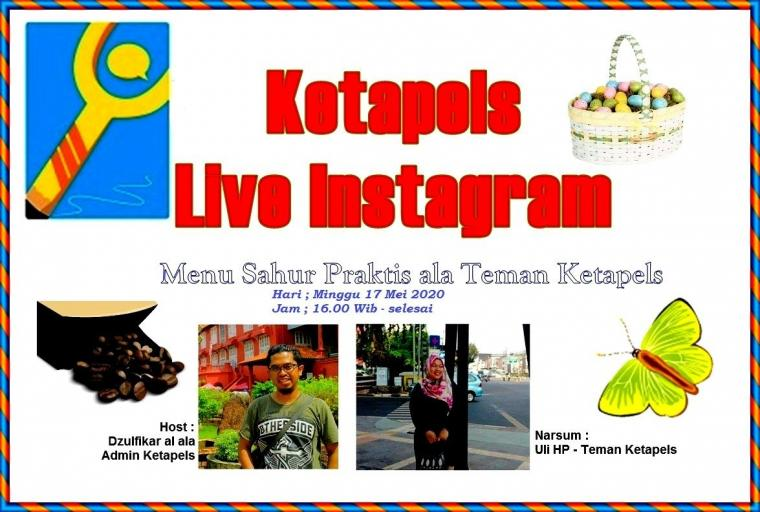 "Live IG Ketapels, ""Ngomongin Menu Sahur Bareng Mami Uli HP"""