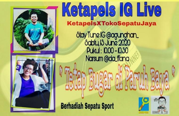"""[Ketapels Live IG] """"Tetap Bugar di Paruh Baya"""" Kolaborasi dengan Toko Sepatu Jaya"""