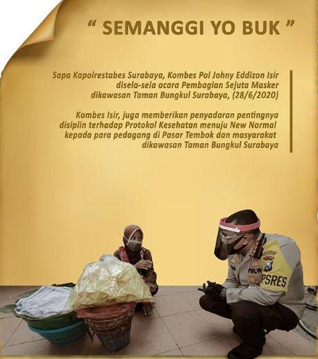 Duduk Sama Rendah Berdiri Sama Tinggi Di Saat Kapolrestabes Surabaya Beli Semanggi Kompasiana Com