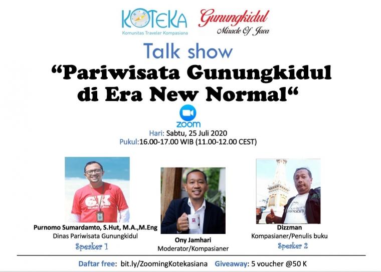 """Ayo, Ikutan Gelar Wicara Koteka """"Pariwisata Gunungkidul di Era New Normal"""""""