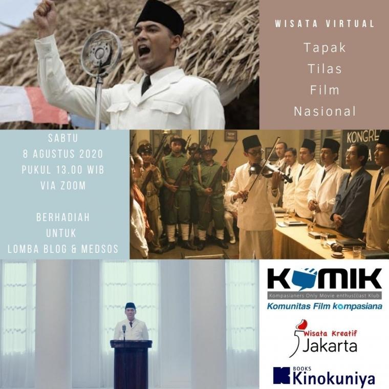 """HUT KOMiK, Ikut """"Wisata Virtual: Tapak Tilas Film Nasional"""" Yuk!"""