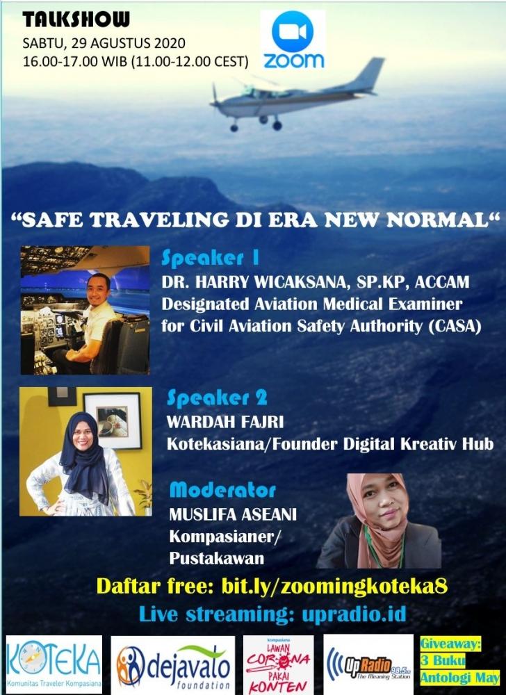 Cari Tahu Tips Aman Traveling di Era New Normal bersama Dr. Harry dan Wardah Fajri