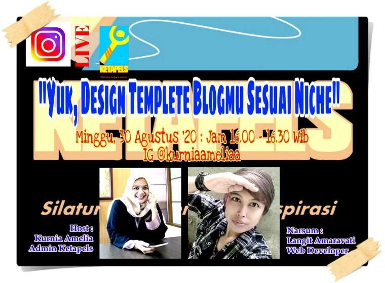[Ketapels IG Live] Yuk, Design Templete Blogmu Sesuai Niche!