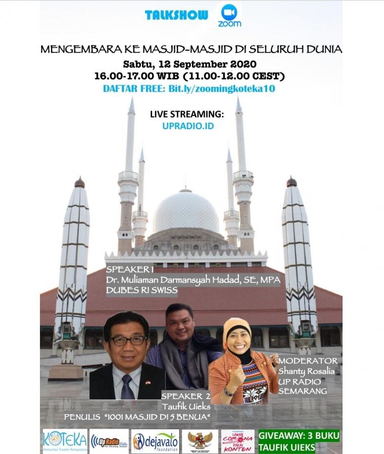 Ayo, Mengembara ke Masjid-Masjid di Seluruh Dunia lewat Talkshow Koteka