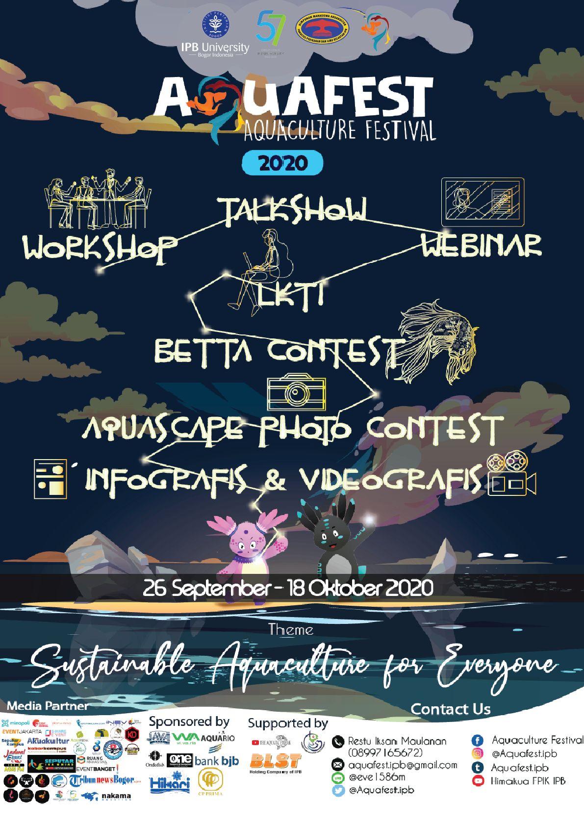 Aquafest 2020 Hadir Dengan Konsep Acara Berbeda Kompasiana Com