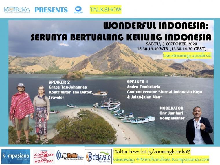 "Simak Talkshow Koteka, ""Serunya Bertualang Keliling Indonesia"""