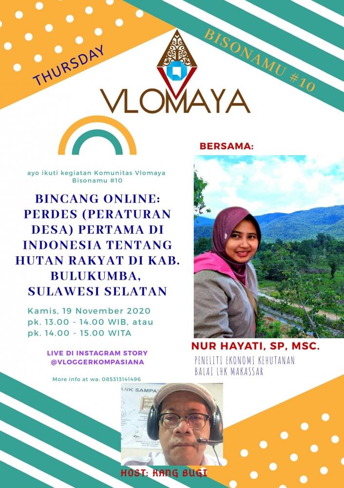 Bincang Online: Peraturan Desa (Perdes) Pertama di Indonesia tentang Hutan Rakyat di Bulukumba