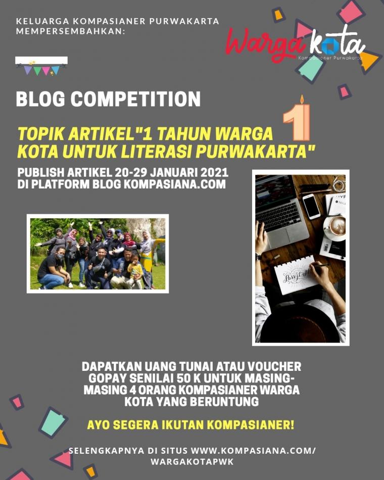 Blog Competition: 1 Tahun Warga Kota untuk Literasi Purwakarta