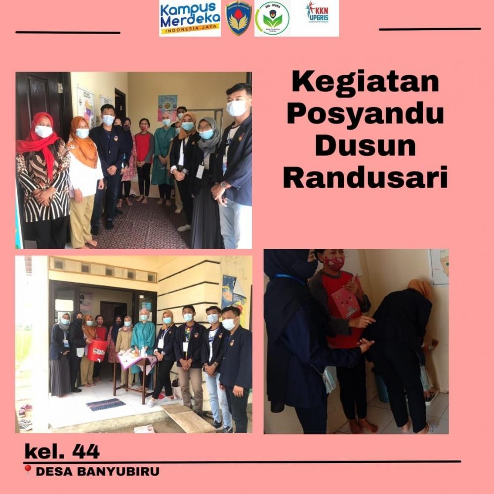 Posyandu di Dusun Randusari, Desa Randusari Oleh M