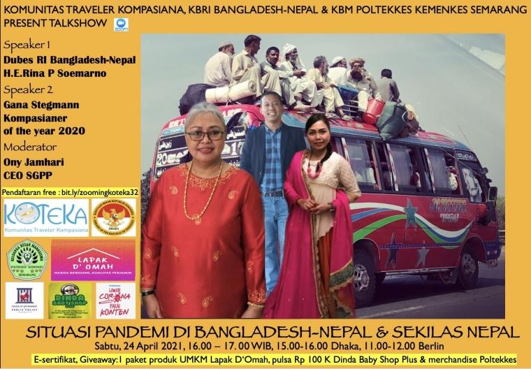 Gabung Zoom Koteka Sabtu Bahas Bangladesh dan Nepal, Yuk!
