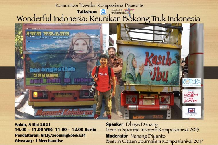 Bahas Keunikan Bokong Truk Indonesia sebagai Aset Wisata, Yuk!