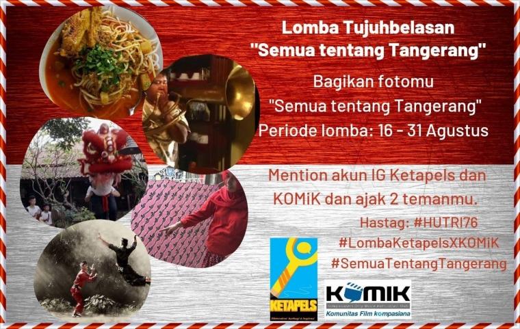 """Kolaborasi Ketapels X KOMiK, Yuk Bagikan Foto dengan Tema """"Semua tentang Tangerang""""!"""