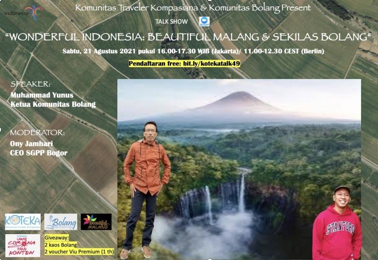 """Simak """"Wonderful Indonesia: Beautiful Malang dan Sekilas Bolang"""", Yuk!"""