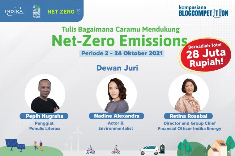 Tulis Bagaimana Caramu Mendukung Net-Zero Emissions,  Menangkan Hadiah Total 28 Juta Rupiah!