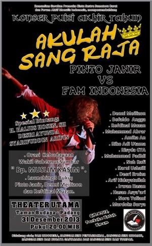Konser Puisi Akhir Tahun Saatnya Penyair Sufistik Pinto Janir Vs Fam Indonesia