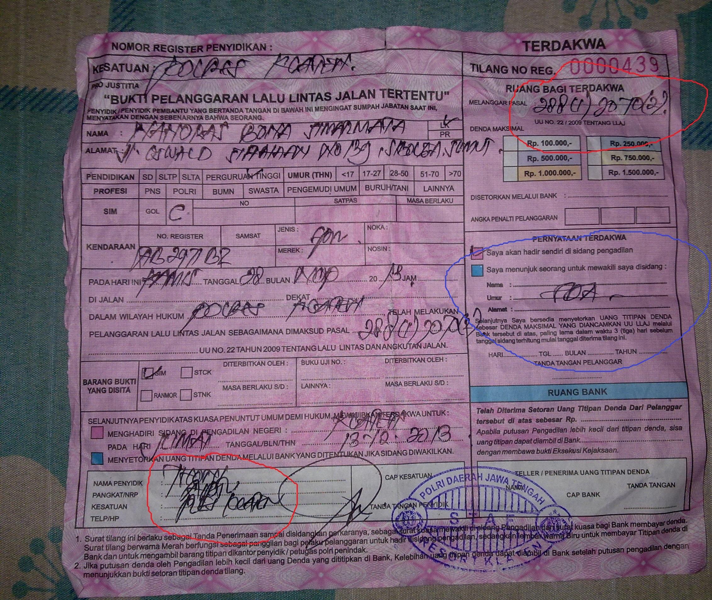 Hakim Purnomo Pn Klaten Membenarkan Kesalahan Polantas