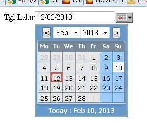 membuat kalender untuk input data date tanggal dgn php oleh al rasyidi. Black Bedroom Furniture Sets. Home Design Ideas