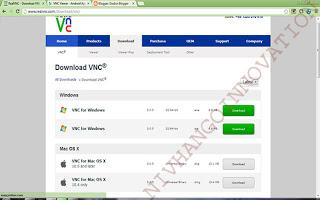 Remote Desktop PC Menggunakan realVNC dengan VNC viewer