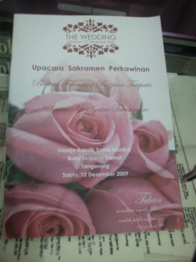 Bikin Buku Misa Pernikahan Katolik Oleh Dr Handry Carlos