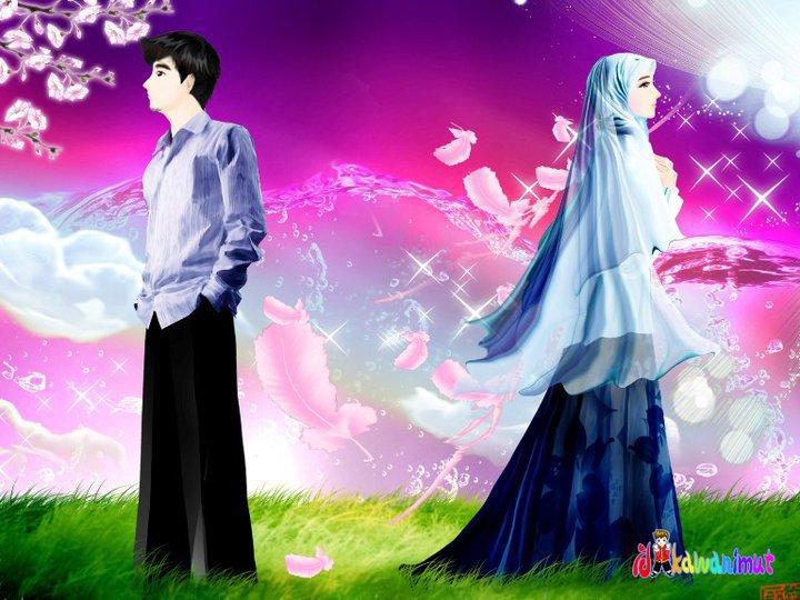 Unduh 5400  Gambar Animasi Muslim Dan Muslimah Romantis HD Gratis