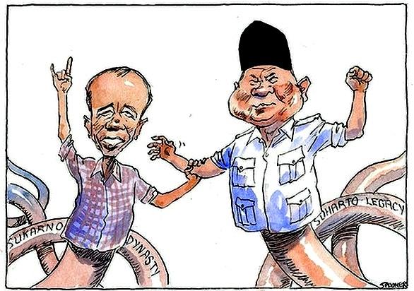 Kartun Pers Luar Negeri Tentang Jokowi Dan Prabowo Oleh Gustaaf