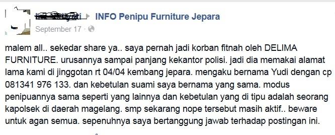 Waspada Penipuan Di Facebook Berkedok Toko Furniture Kompasiana Com